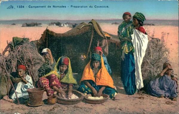 Campement de Nomade-Préparation du Couscous Vorderseite