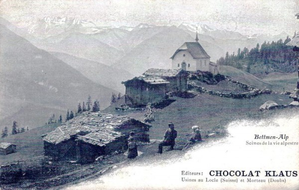 Bettmen-Alp (Bettmeralp), Chocolat Klaus Vorderseite