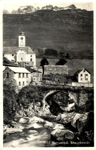 Römerbrücke, Hospental Vorderseite