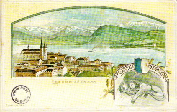 Luzern mit den Alpen