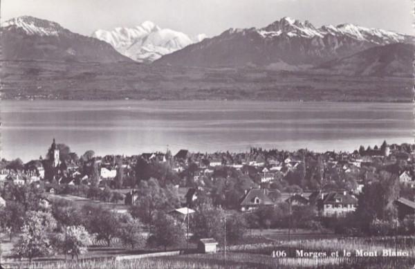 Morges et le Mont Blanc