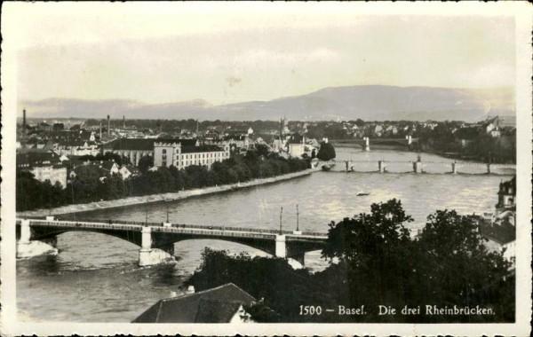 Basel/Die drei Rheinbrücken Vorderseite