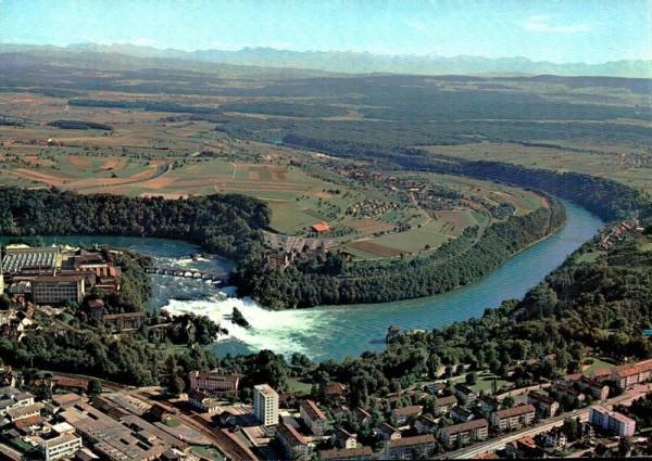 Flugaufnahme Rheinfall Vorderseite