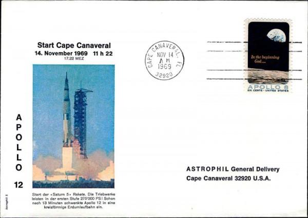 Cape Canaveral, Start Saturn 5 Vorderseite