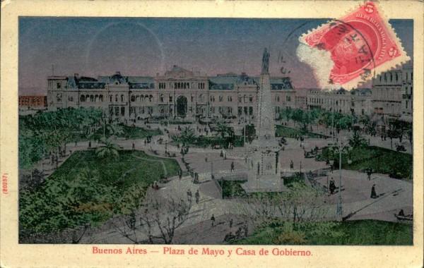 Buenos Aires-Plaza de Mayo y Casa de Gobierno Vorderseite