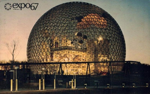Expo 67 Montreal, Canada. Pavilion USA Vorderseite