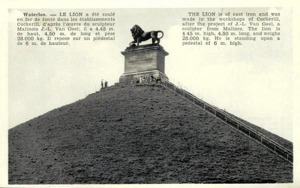 """""""Löwe von Waterloo"""" Denkmal Vorderseite"""