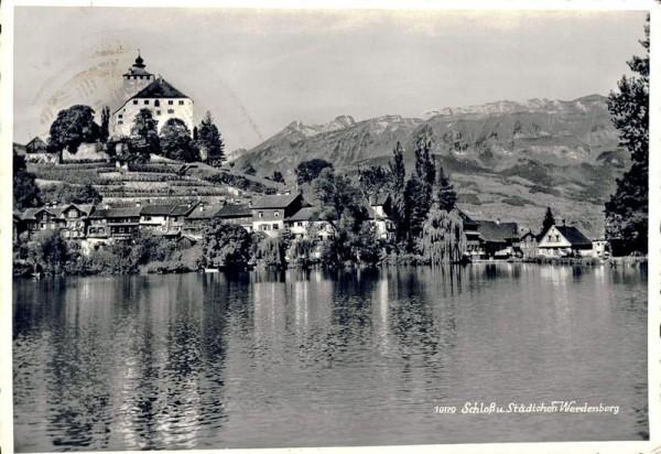 Schloss u. Städtchen Werdenberg Vorderseite