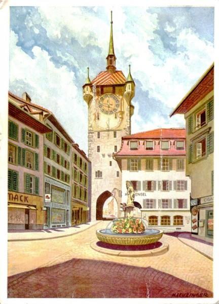 Badener Stadtturm von Leuzinger Vorderseite
