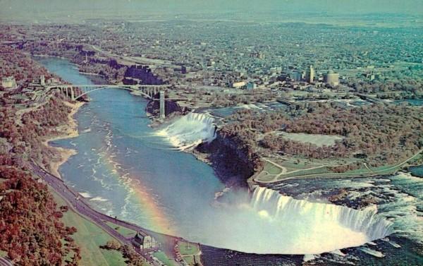 Niagarafälle aus der Vogelperspektive um ca. 1971 Vorderseite