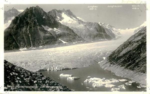 Aletschgletscher und Märjelensee Vorderseite