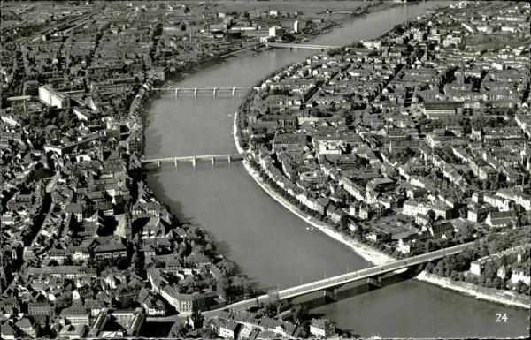 Basel/Die vier Rheinbrücken Vorderseite