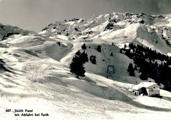 Skilift Pizol mit Abfahrt bei Furth Vorderseite