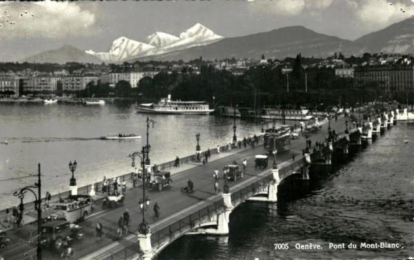Pont du Mont-Blanc, Genève Vorderseite