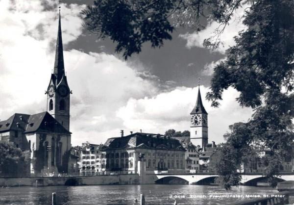 Zürich. Frauenmünster, Meise, St. Peter  Vorderseite