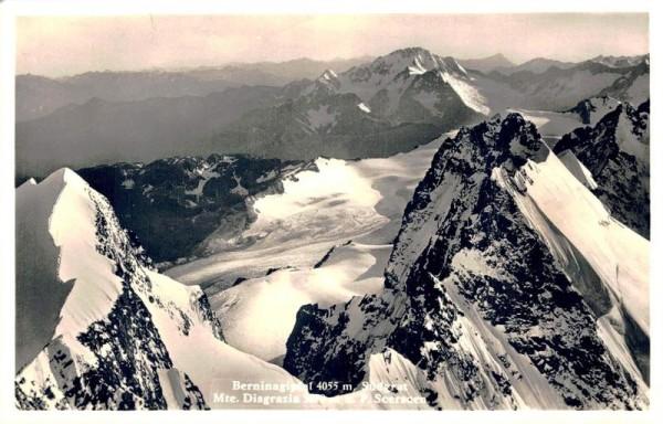Berninagipfel, Südgrat Mte. Disgrazia u. P. Scerscen Vorderseite