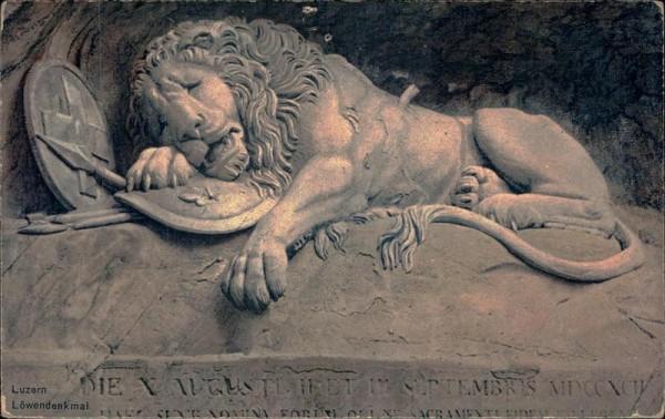 Luzern/Löwendenkmal Vorderseite