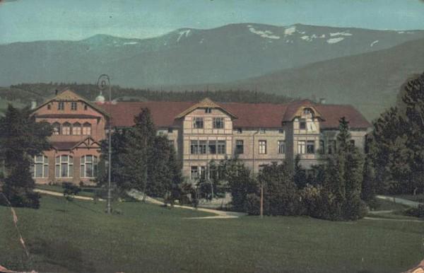 Riesengebirge Schreiberhau. Sanatorium Weissbachthal, Schlesien Polen Vorderseite