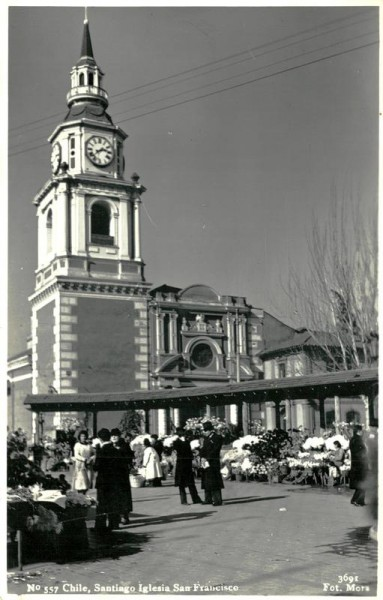 Chile, Santiago Iglesia San Francisco Vorderseite