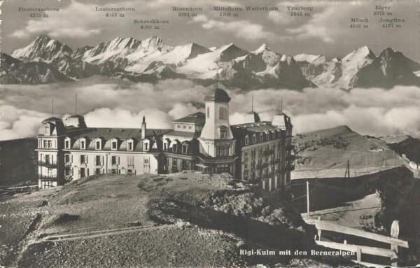 Rigi-Kulm mit den Berner Alpen Vorderseite