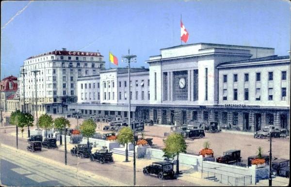 Genève, La gare et l'hôtel Cornavin Vorderseite