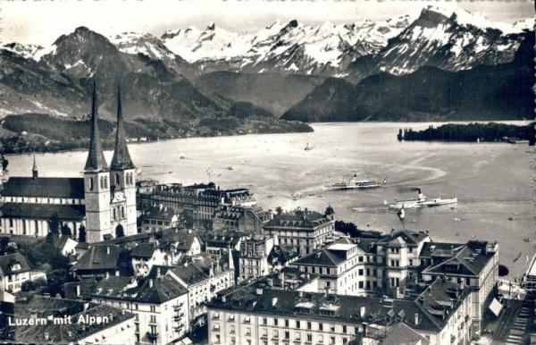 Luzern mit Alpen Vorderseite