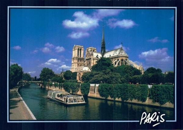 Paris. Notre-Dame, la Seine Vorderseite