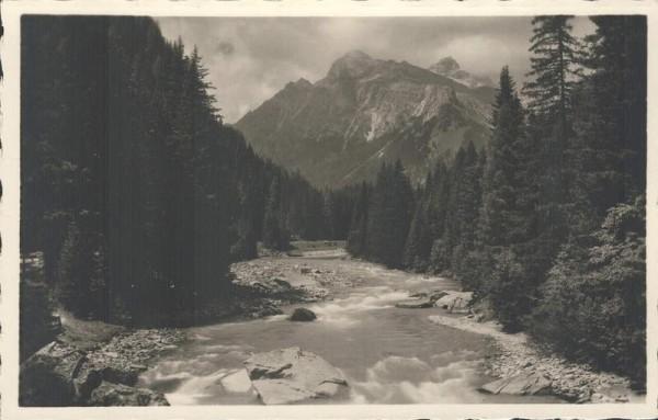 Hinterrhein bei Sufers. 1933 Vorderseite