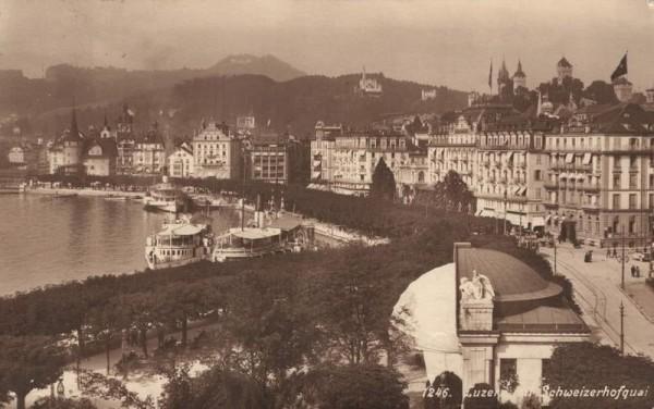 Luzern mit Schweizerhofquai. 1914 Vorderseite