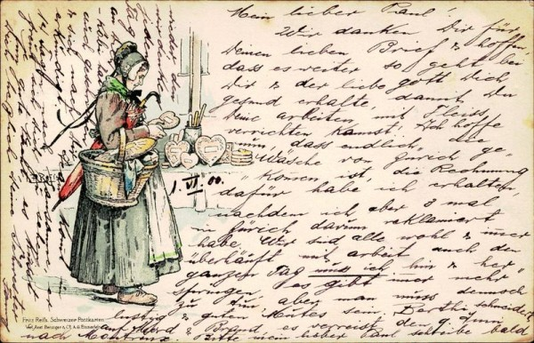 Fritz Reif's Schweizer Postkarten Vorderseite