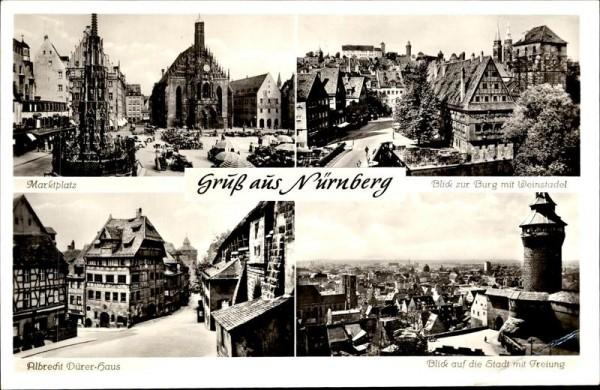 Gruss aus Nürnberg Vorderseite
