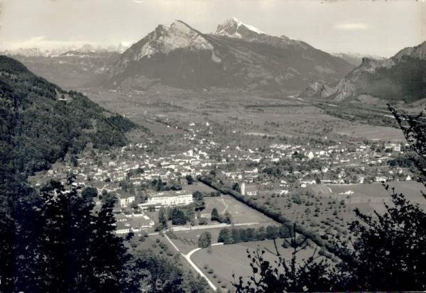 Bad Ragaz mit Churfirsten, Gonzen und Alvier Vorderseite