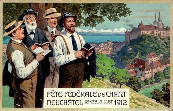 Fête Fédéral de Chan, Neuchâtel, 1912 Vorderseite