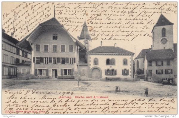 Aarberg - Kirche und Amtshaus