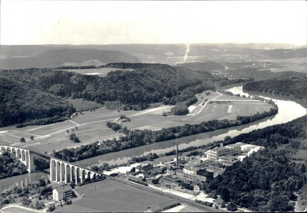 Eglisau, Stamm AG, Flugaufnahme 1967 Vorderseite