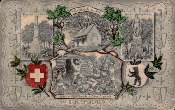 500 Jahre Schlacht am Stoss 1405-1905 Vorderseite