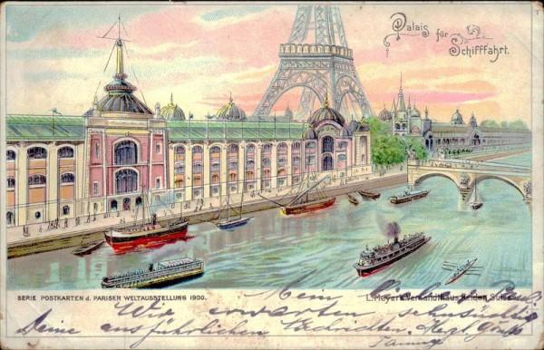 Paris, Weltausstellung 1900, Palais für Schifffahrt Vorderseite