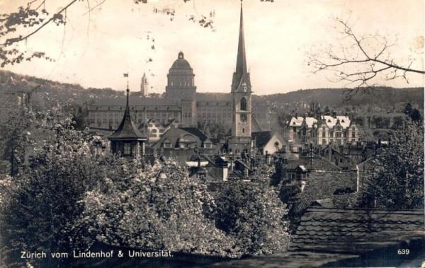 Zürich vom Lindenhof & Universität. 1948  Vorderseite