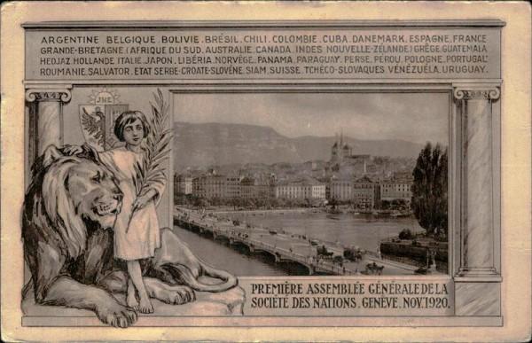 Genève, 1920, Première Assemblée... Vorderseite
