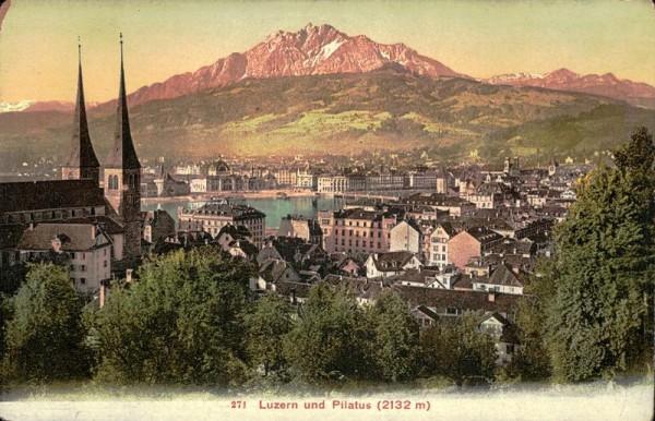 Luzern und Pilatus Vorderseite