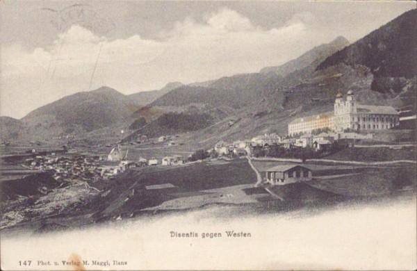 Disentis gegen Westen. 1907