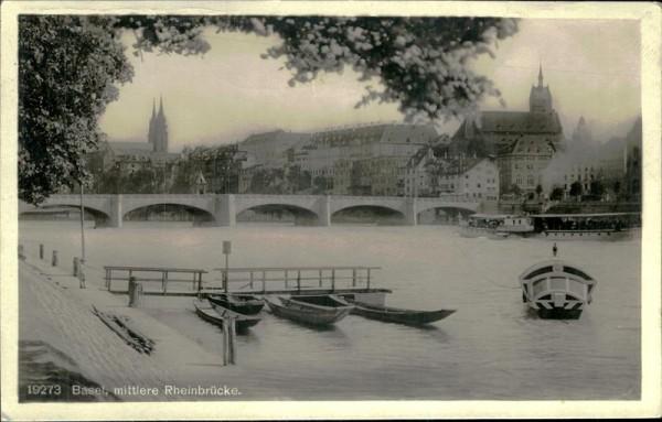 Basel/mittlere Rheinbrücke. Vorderseite