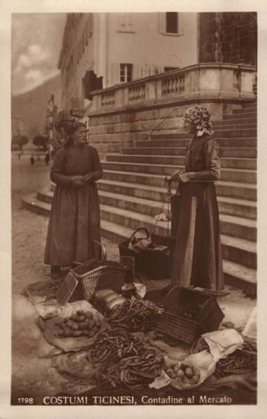 Costumi Ticinesi, Contadine al Mercato Vorderseite