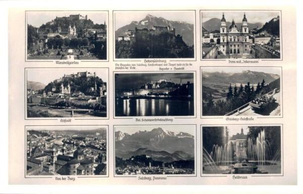 Burgen und Sehenswürtigkeiten von Österreich Vorderseite
