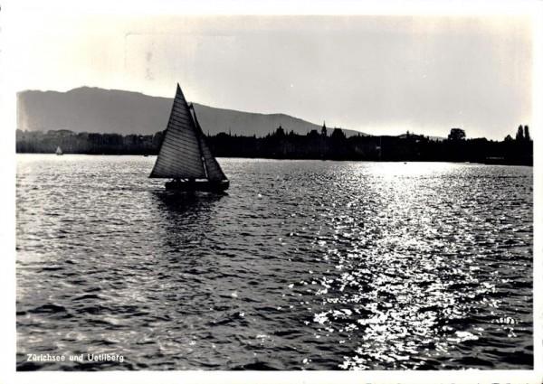 Zürichsee und Uetliberg. 1942 Vorderseite