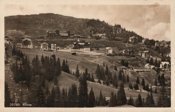 Arosa. 1928 Vorderseite