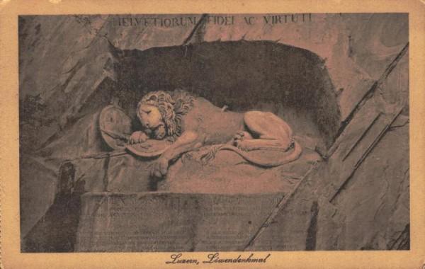 Luzern - Löwendenkmal Vorderseite