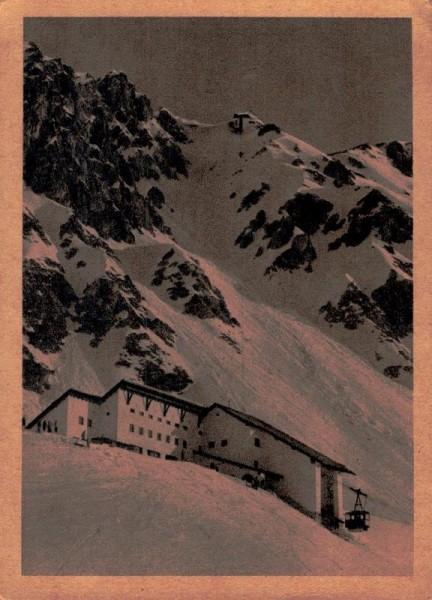 Innsbucker Nordkettenbahn, Station Seegrube, mit Blick auf Bergstation Vorderseite