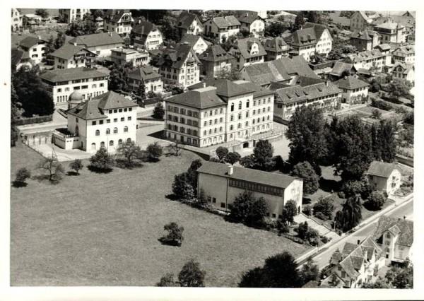 6430 Schwyz SZ, Bahnhofstr. 20 -Bundesbriefmuseum, Herrengasse 37,39 -Schulhaus, Musikschule Vorderseite