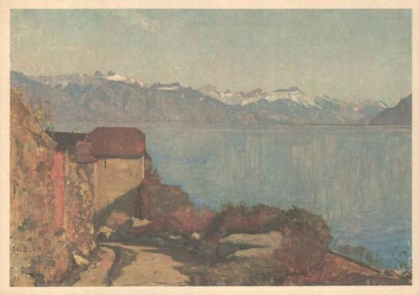 Saint-Saphorin. Karl Giradet, Musée des Beaux-Arts, Neuchâtel Vorderseite